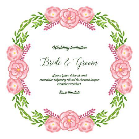 Wedding invitation with floral design elements Vektoros illusztráció