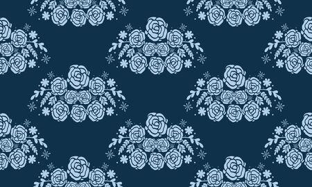 Conception de fond floral sans soudure