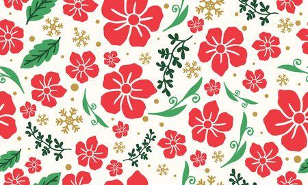 Christmas floral background design