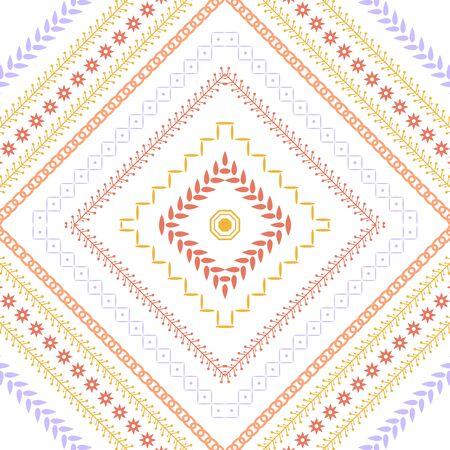 Embroidered design pattern for living room decor. Collection Vektoros illusztráció