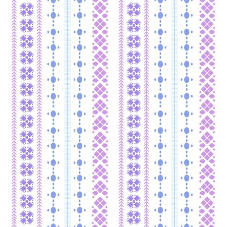 Modern stitches embroidery pattern with simple style for living room design. Collection