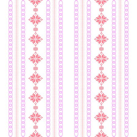 Modern stitches pattern on embroidery design for living room wall decor. Collection Ilustracje wektorowe