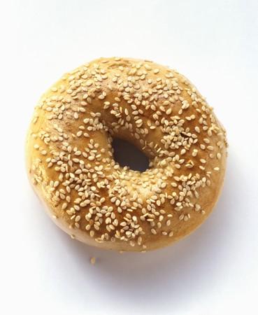 sesame seed: A Sesame Seed Bagel LANG_EVOIMAGES