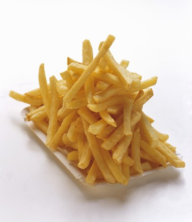 frites: French Fries on a Paper Plate