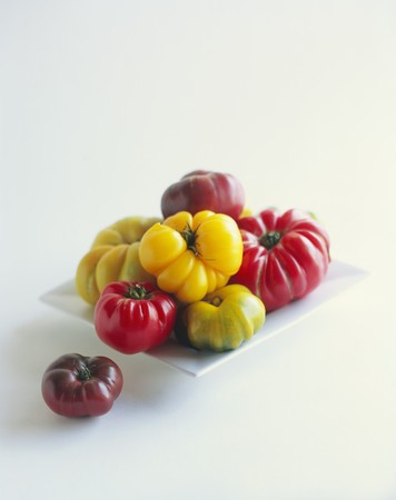heirloom: Several heirloom tomatoes LANG_EVOIMAGES
