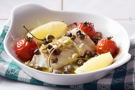 ovenbaked: Oven-baked cod in a lemon sauce LANG_EVOIMAGES