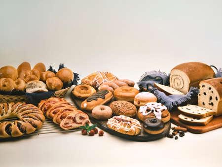 prodotti da forno: Variet� di prodotti da forno e pasticceria