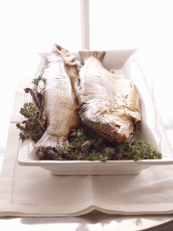 twos: Two Whole Prepared Fish on Platter