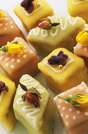 petit: Assorted petit fours
