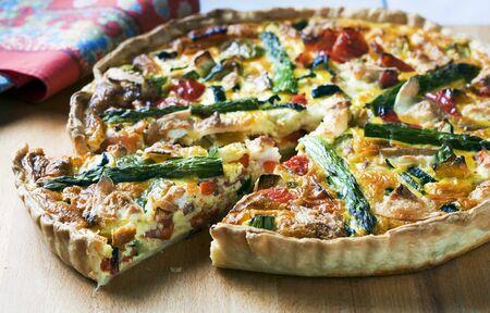 pancetta cubetti: Quiche provenzale