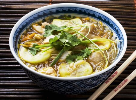 asian noodle: Asian noodle soup LANG_EVOIMAGES