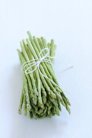 bunched: Tips of Bundled Asparagus