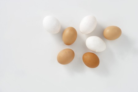 brownness: White and brown eggs