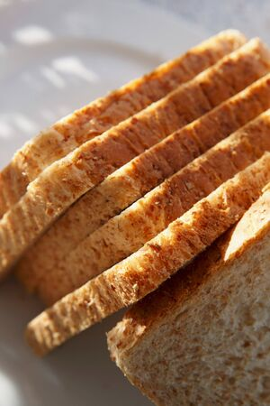 several breads: Slices of wholemeal bread