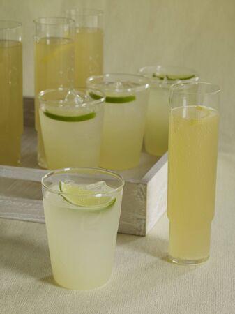 soda pops: Assorted Glasses of Lemonade