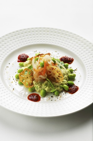 soya bean: Soja Ensalada de jud�as con verduras, ra�z de loto y salsa de chile (Asia) LANG_EVOIMAGES