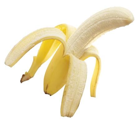 peeled banana: A peeled banana