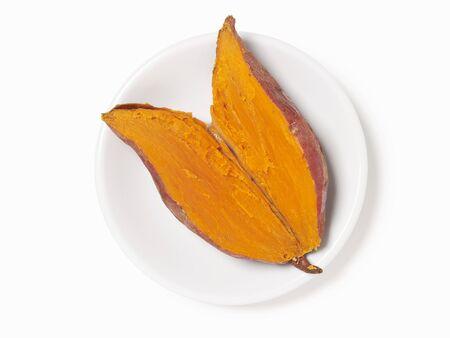 tuberous: Baked Sweet Potato Sliced in Half