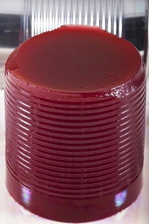 vaccinium macrocarpon: Canned Cranberry Sauce