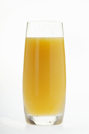 tall glass: Orange juice in tall glass
