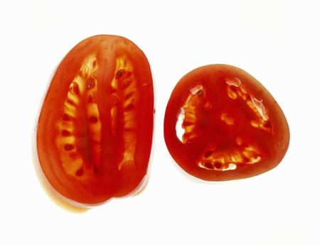 longitudinal: Plum tomato (longitudinal- and cross-sections)