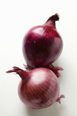 in twos: Red onions