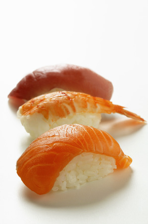 tunafish: Nigiri sushi with salmon, shrimp and tuna LANG_EVOIMAGES