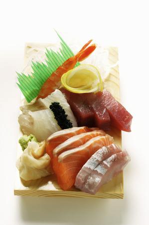 tunafish: Sashimi with salmon and tuna