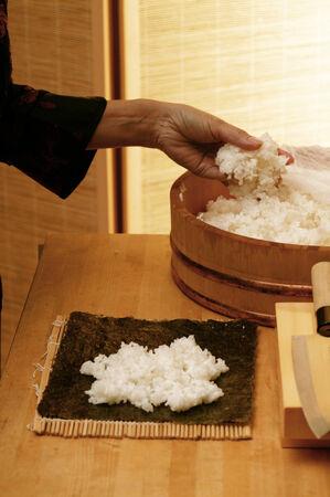 maki sushi: Pr�paration sushi maki LANG_EVOIMAGES