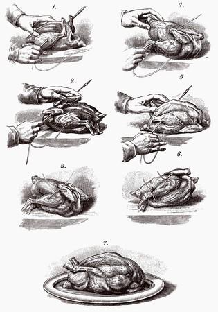 trussing: Tralicci pollame (illustrazione)