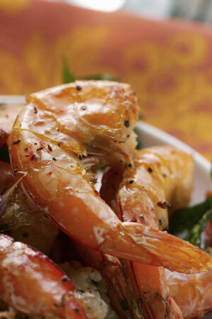 broiling: Barbecued shrimps