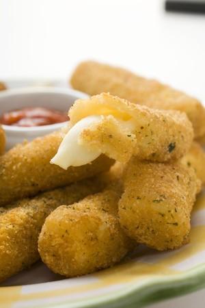 marinara: Mozzarella sticks with marinara sauce