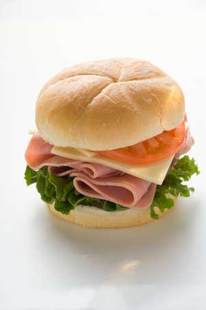 kaiser: Ham, cheese and tomato in kaiser roll
