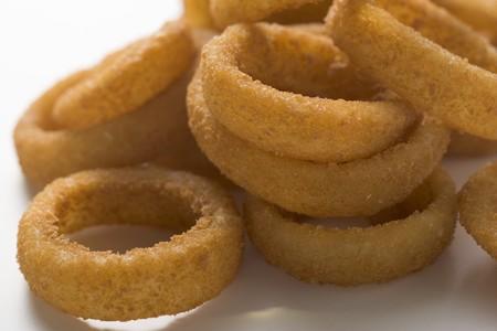onion rings: Deep-fried onion rings