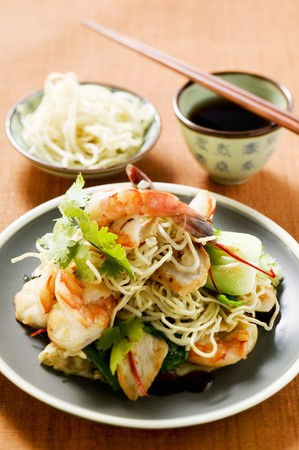 goreng: Bami Goreng with shrimps (Indonesia) LANG_EVOIMAGES
