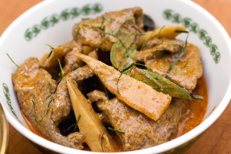 beef curry: Beef curry with bamboo shoots (Thailand)