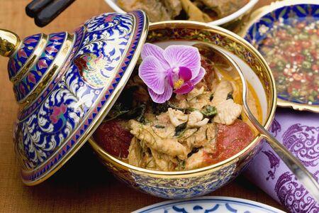 chicken curry: H�hnchencurry mit Nam Pla (Thailand)