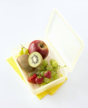 lunch box: Lunch box with fresh fruit
