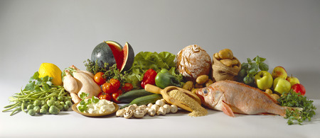 varied: Still life with healthy, slimming foods LANG_EVOIMAGES
