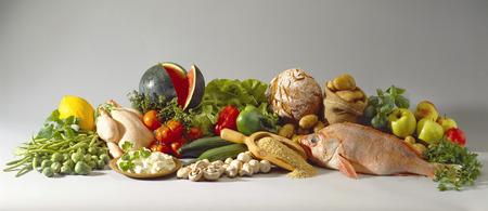 Stilleben mit gesunden, Schlankheits-Lebensmittel
