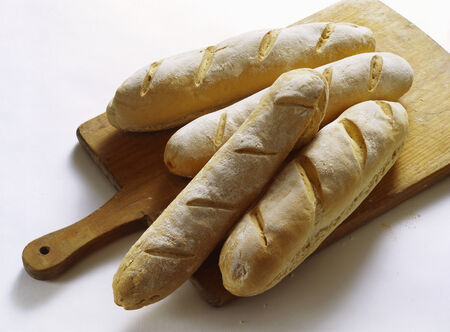 several breads: Quick baguettes