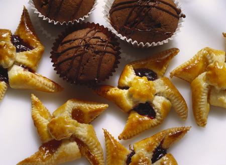 pinwheels: Pastry Pinwheels and Chocolate Cupcakes