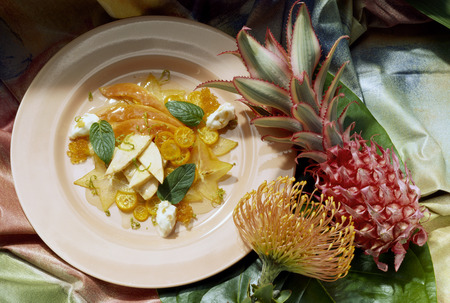anona: Exotic Fruit in Champagne Aspic