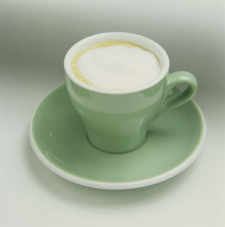 capuccino: Capuccino in a Green Cup