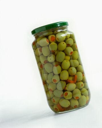 glas: Glas mit eingelegten Oliven