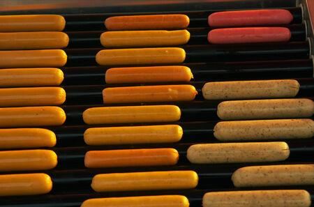 wienie: Hot dog sausages