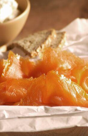 saumon fum�: Saumon fum� (close-up) LANG_EVOIMAGES
