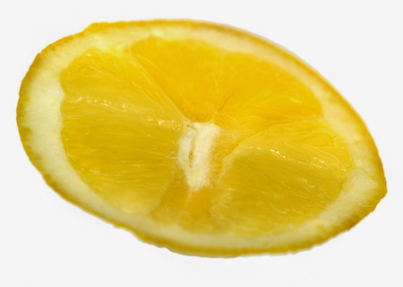 lemon wedge: A lemon wedge