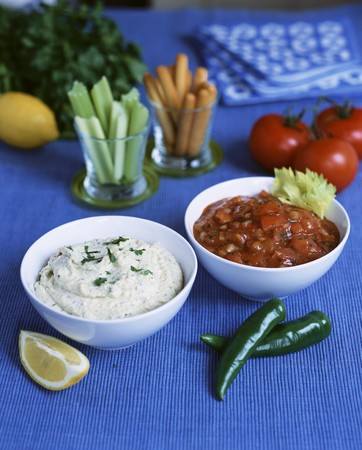 sauces: Two spicy dipping sauces