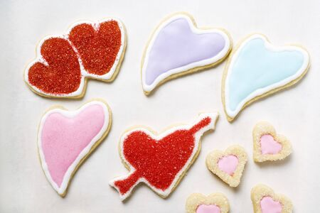 heartshaped: Heart-shaped biscuits